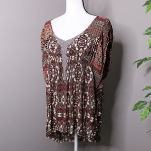 One World Short Sleeve Top Crochet Lace Bo…